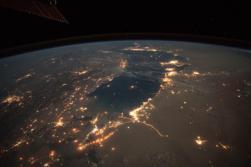 Persian Gulf at night