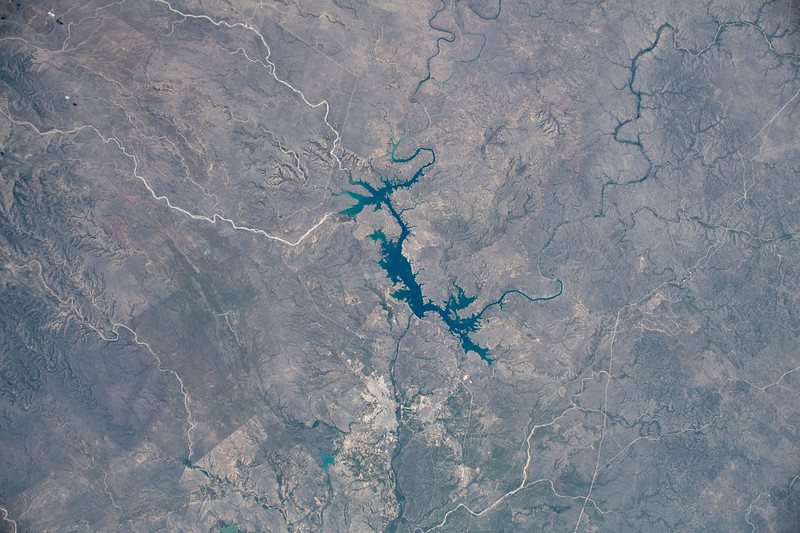Amistad Reservoir and Rio Grande, US and Mexico