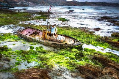 Cayucos Shipwreck 20200721 (Impression)