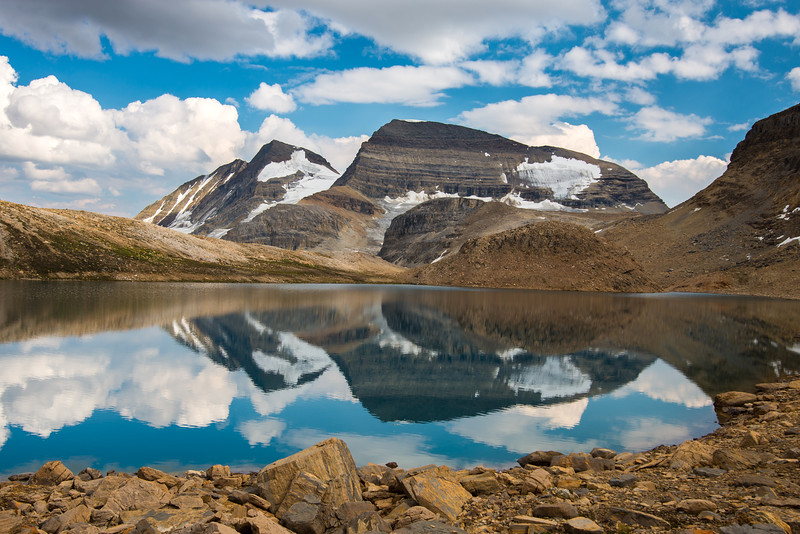 The President and The Vice President reflected in Kiwetinok Lake, Yoho National Park