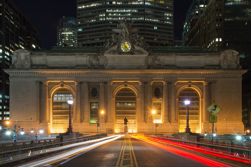 Grand Central from Park Avenue Viaduct above 42nd Street