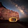 Rock Fall Bridge Under the Milky Way.