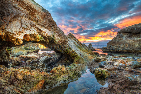 Shell Beach Sunset Cave 20161211