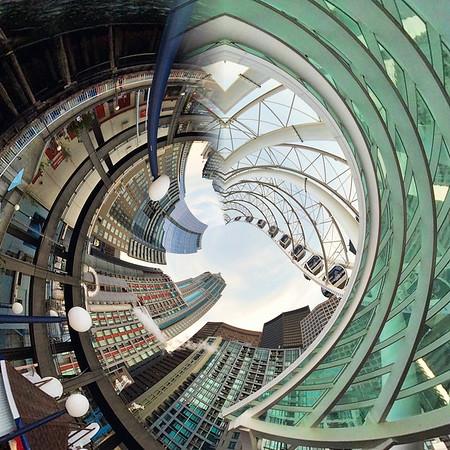 Seattle Skyline_Tiny Planet_(20x20)300dpi_Print