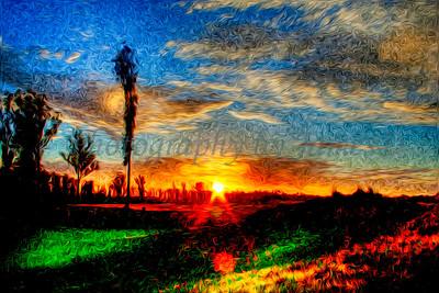 Monet Sunset (Impressionism)