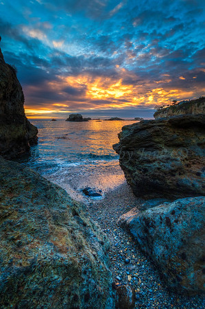 Shell Beach Sunset Pebble Beach 20161211