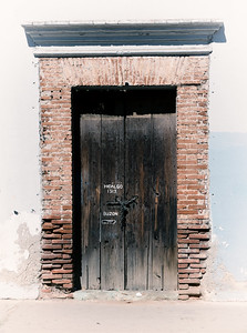 Brick and Wood Door