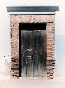 Brick and Wood Door