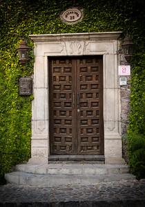 Wood Door with Ivy