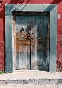 Blue Wood Door