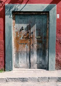 Blue Wood Door