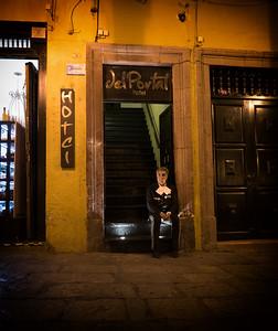 Mariachi at the Del Portal Hotel