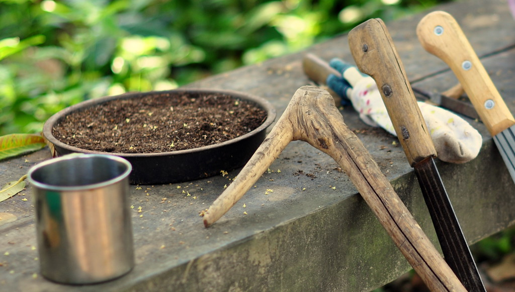 Tools for clearing grounds.
