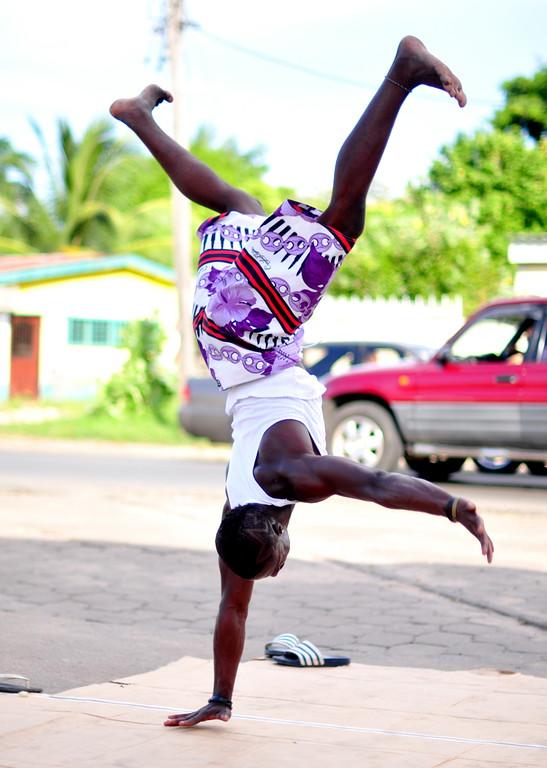 Street performers in Paramaribo