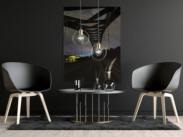 Modern Dark Poster Mockup by Anthony Boyd Graphics