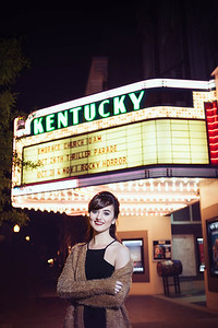 Rachel's senior photos at the Kentucky Theater, Gratz Park & Downtown Lexington, KY 10.24.14.