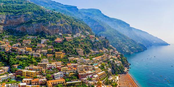 Postiano, Italy on the Amalfi Coast