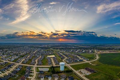 Marion, Iowa at Sunset