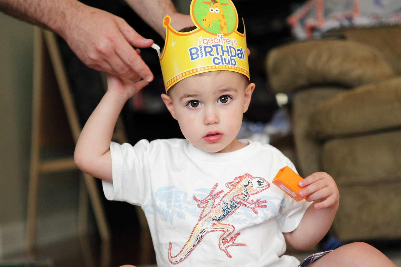 The birthday crown from Toys-r-us.