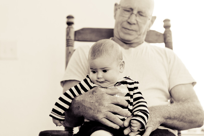 11-25-2011  Lilla is 3 months old in this shot.  I love this one of her and her Papa.