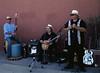 Male Band, Street Fair, Encinitas, CA (Bronica 645)