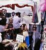 Feathers, Street Fair, Encinitas (Bronica 645)