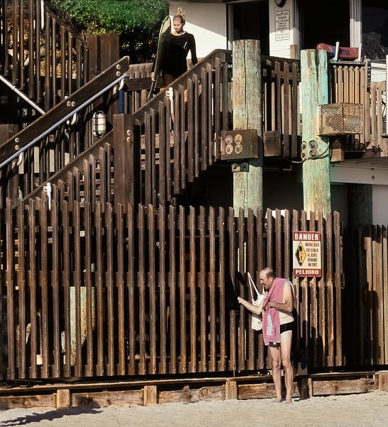 Man with a Towel, Swamis Beach, Encinitas, CA