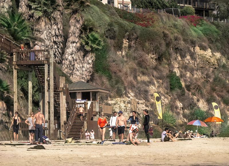 Stairs, I, Swami's Beach, Encinitas, CA