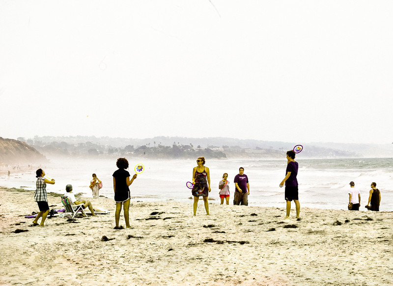 Paddleball, Swami's Beach, Encinitas, CA