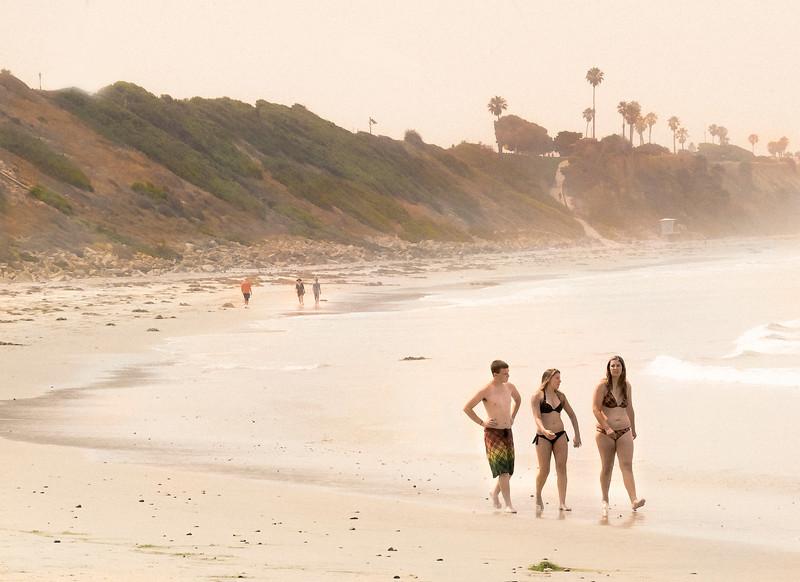 Friends, Swami's Beach, Encinitas, CA