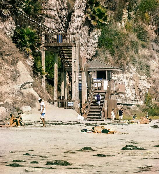 Stairs, II, Swami's Beach, Encinitas, CA