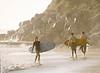 Woman Exiting Water, Swami's Beach, Encinitas, CA