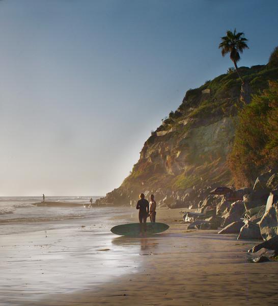 Two Surfers, Swami's Beach, Encinitas, CA