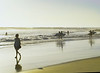 Swimmers Entering Water, Swami's Beach, Encinitas, CA