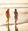 Two Women, Swami's Beach, Encinitas, CA