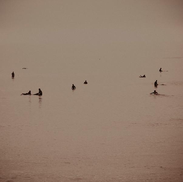 Surfers Waiting,. 3, Swami's Point, Encinitas. CA