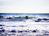Surfer, Stormy Afternoon, Encinitas, CA
