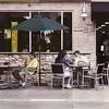 Eavesdropper, Main Street, Encinitas (Bronica 645)