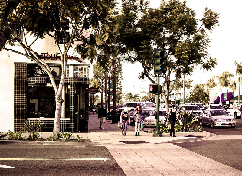 Waiting for the Light, Main Street, Encinitas, CA