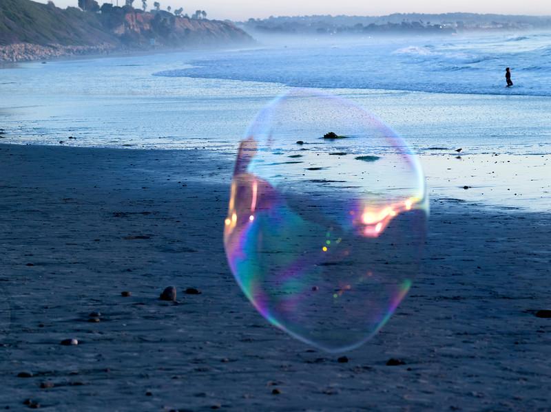Evening Bubble, Swami's Beach, Encinitas, CA