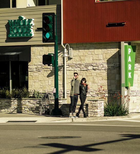 Tall Couple, Main Street, Encinitas, CA