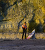 Surfer in Twilight, Swami's Beach, Encinitas, CA