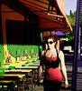 Woman in Red, Vermont Ave, Los Feliz, Los Angles