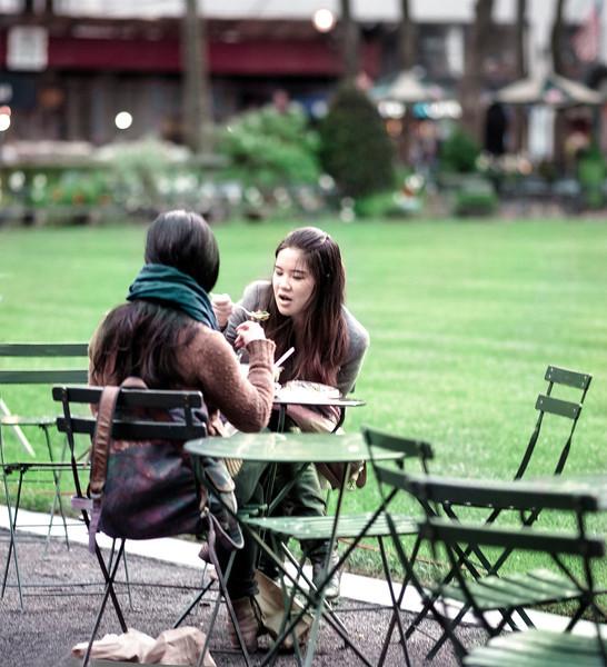 Eating, Bryant Park, New York, NY