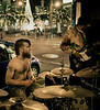 Shirtless Drummer, II, Corner of Geary and Powell, San Francisco, CA