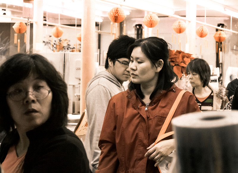 Shoppers, Chinatown (Stockton Street), San Francisco, CA