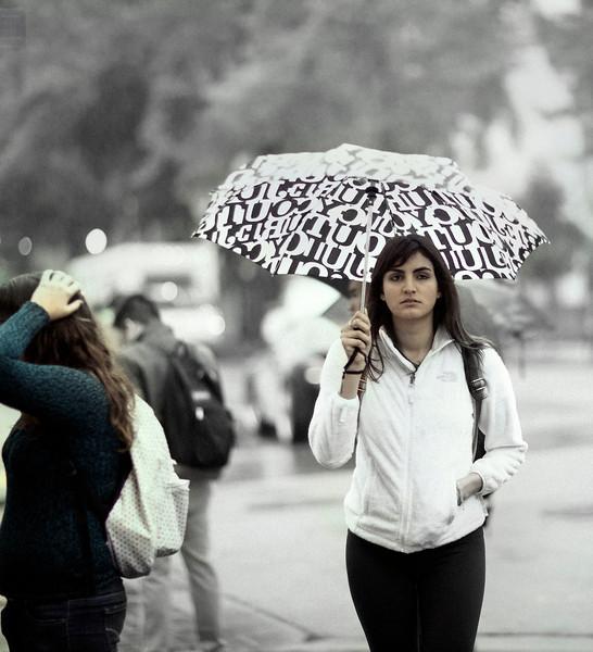 Woman with Dark Hair, Bancroft and Telegraph (UCB), Berkeley, CA