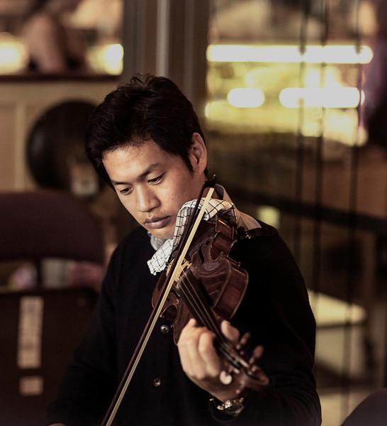 Violinist, I, Ferry Building, San Francisco, CA