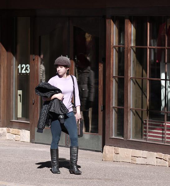 Horsewoman, W. San Francisco Street, Santa Fe, NM