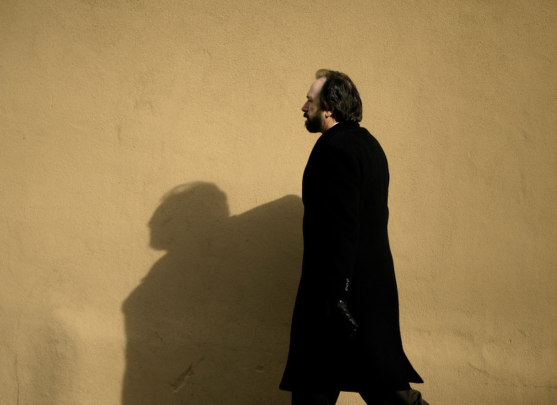 Black Overcoat, Don Gaspar Street, Santa Fe, NM